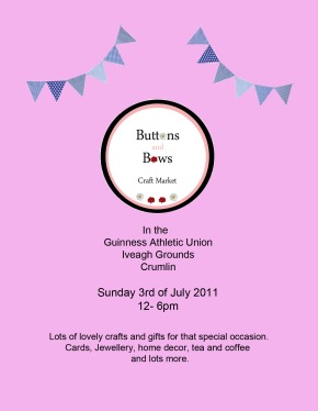 Button & Bows Craft Fair – Sunday 3rd July